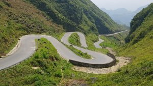 cool windy road between Ha Giang and Dong Van