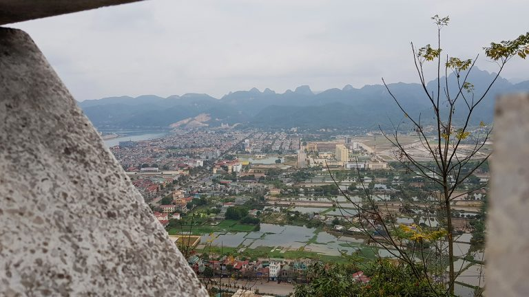 the view from the Ho Chi Minh statue in Hoa Binh