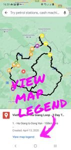 VietNomad Maps Guide - view map legend